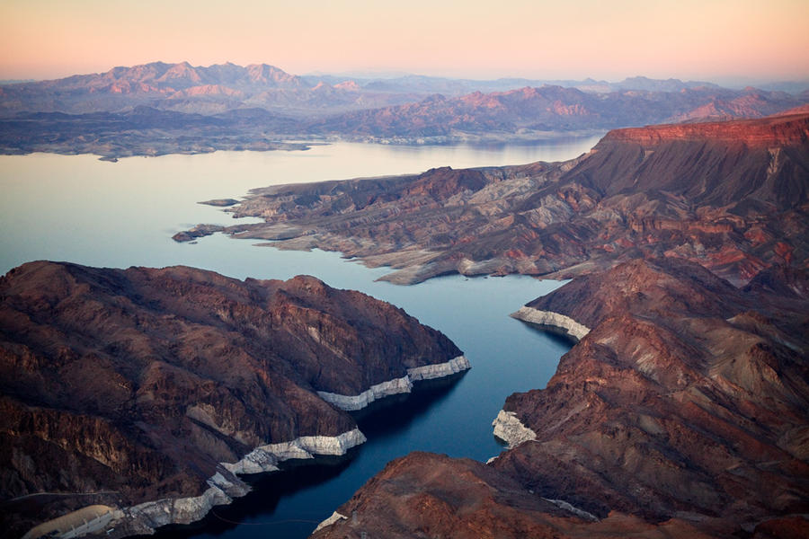 Lake Mead Aerial VIew, February 3, 2010