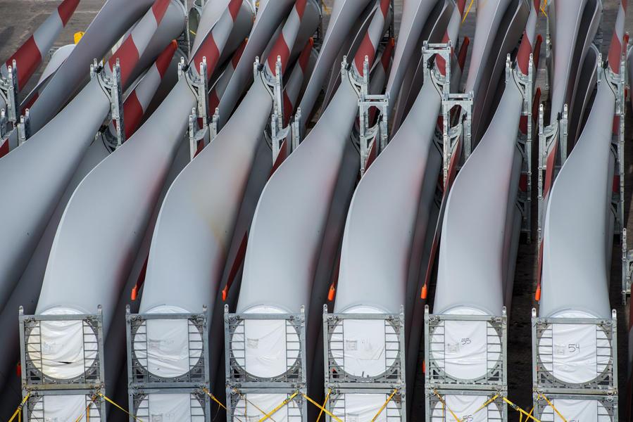Wind turbine blades, Uruguay