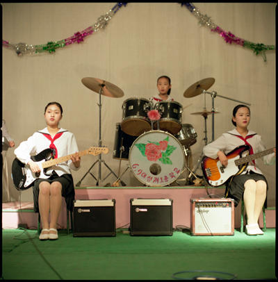 Music Band, Pyongyang School, North Korea