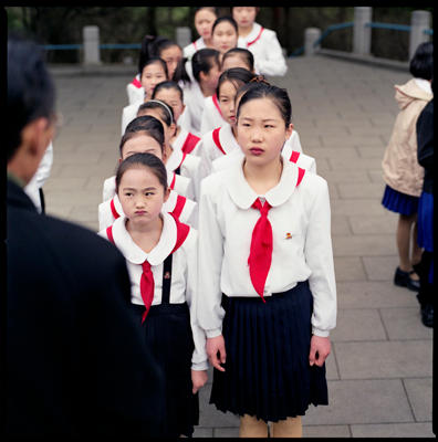 Students and Their Teacher, Mangyongdae, North Korea