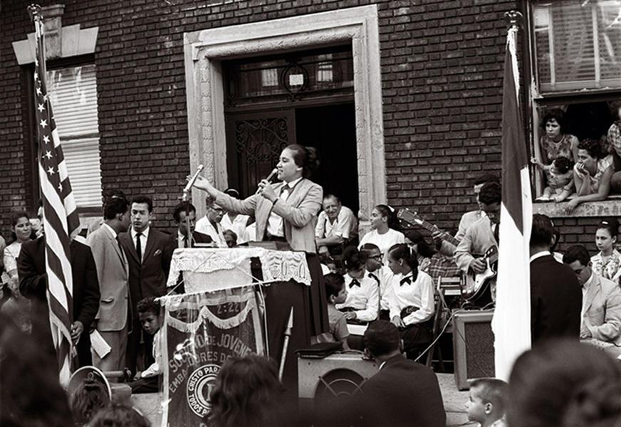 Pentecostal street service, East New York, Brookly