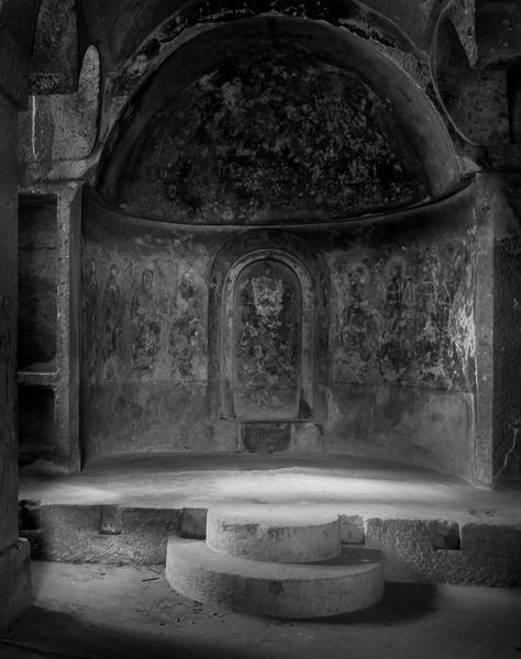 Interior Cut Rock Church