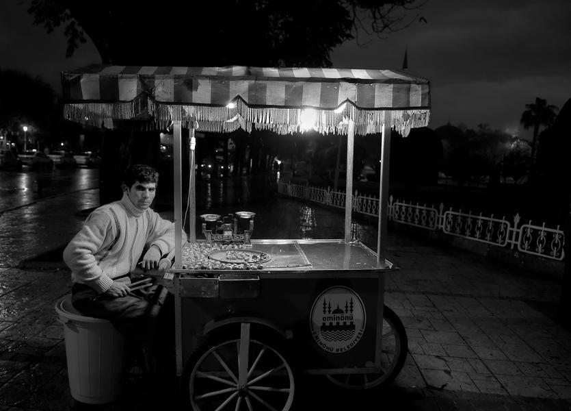 Walnut vender, Istanbul