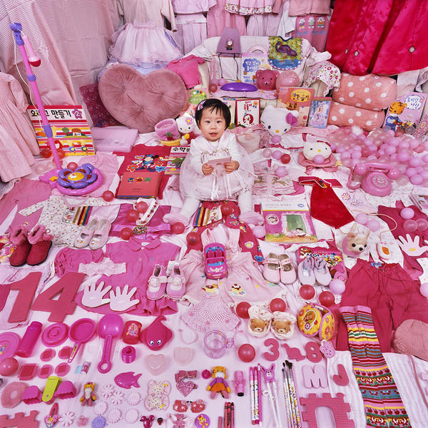 Dayeun and Her Pink Things, Light jet Print, 2007