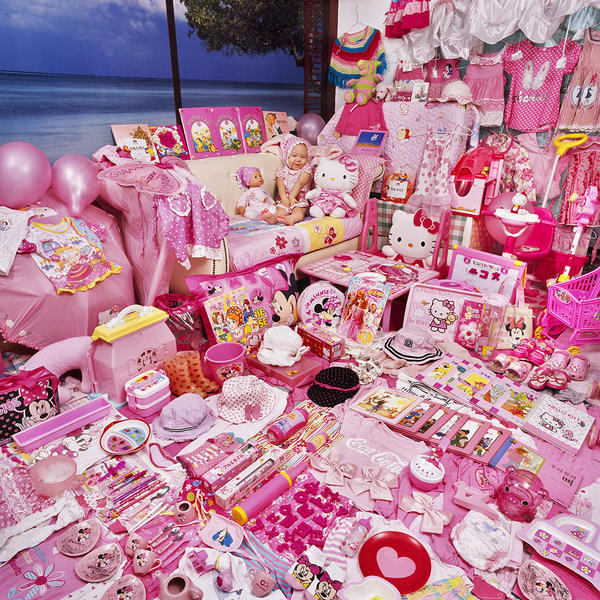 Jiwon and Her Pink Things, Light jet Print, 2008