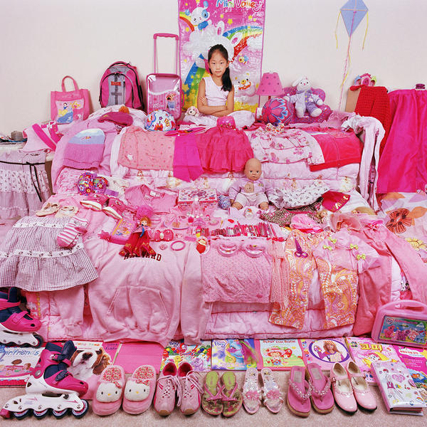 Sojung and Her Pink Things, Light jet Print, 2005