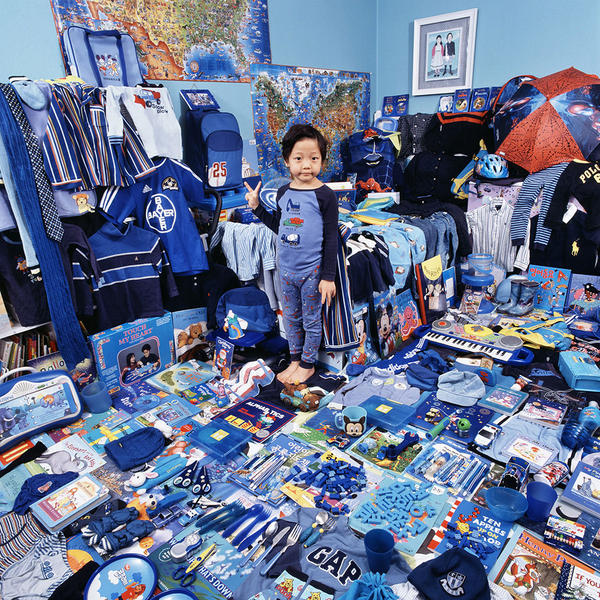 Kevin-Donghu and His Blue Things, Light jet Print,