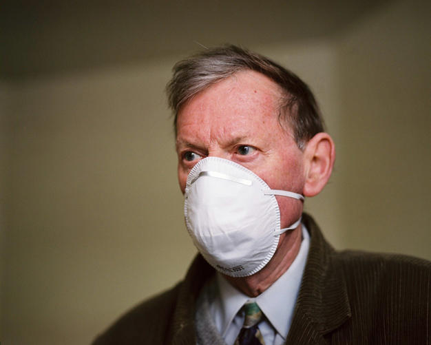 David with Dust Mask, 2010