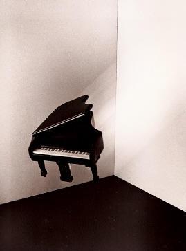 Flying Piano, silver gelatin photograph, 1980