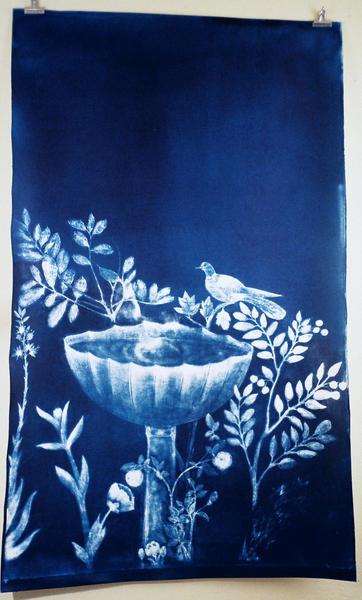 panel 3 ,Garden of Livia, cyanotype, 2014