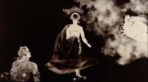 warrior of the soul photogram 1989 48' x 72'