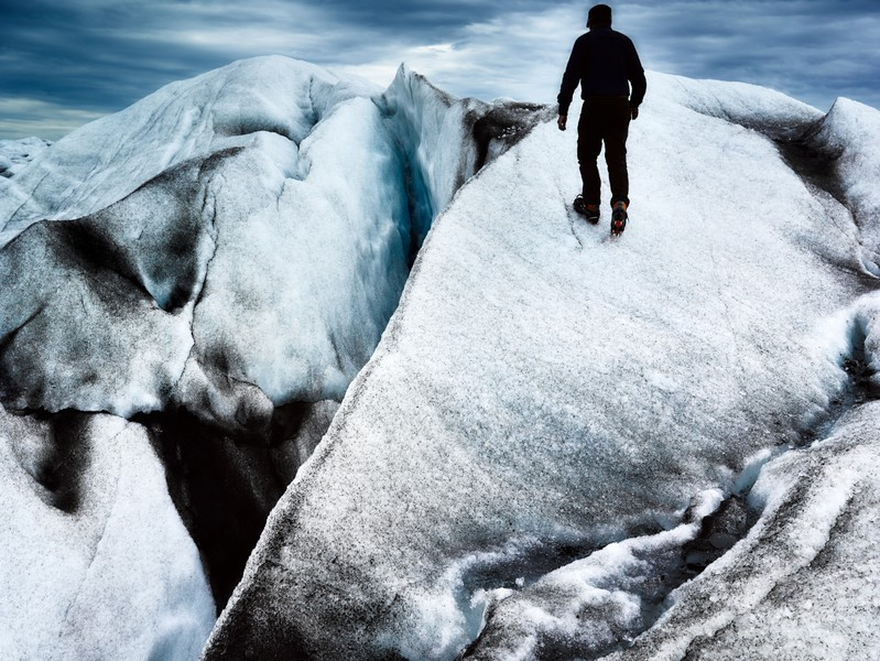 Over the edge, Fjallsjökull
