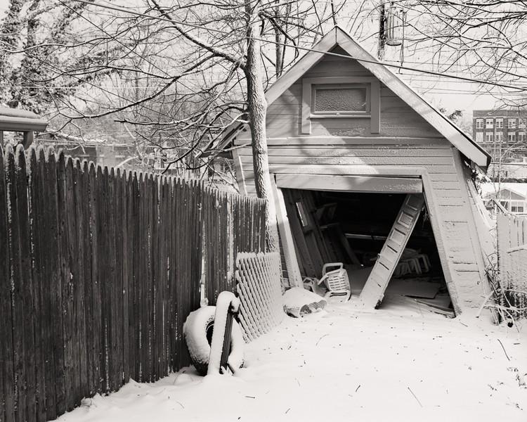 Garage in snow
