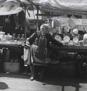 Woman selling pots and pans