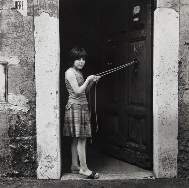 Italian girl in doorway
