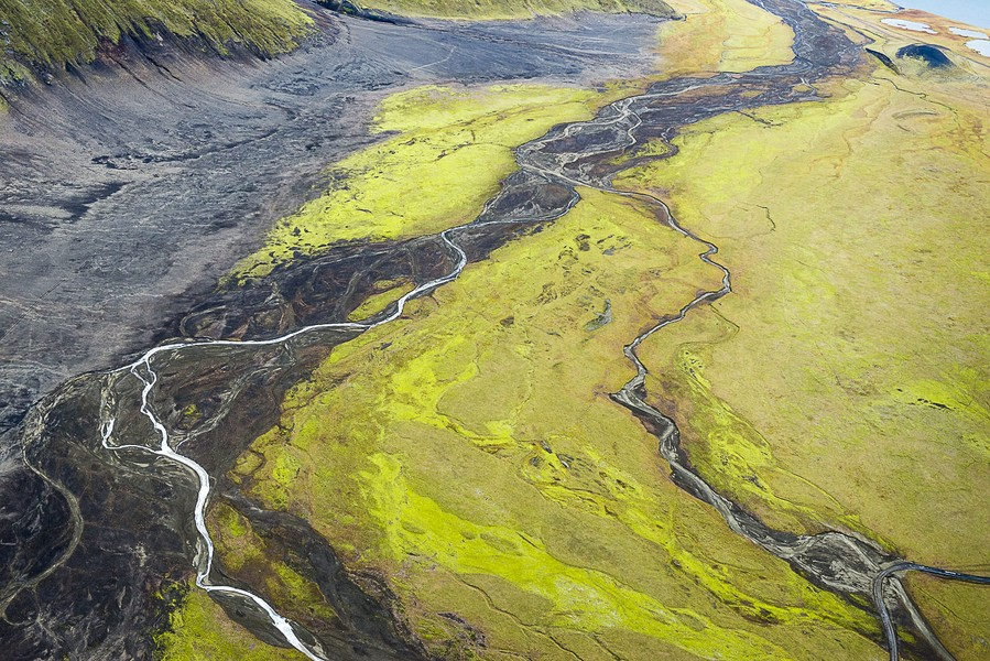 Meandering River, Vatnaoldur, Iceland, 2012