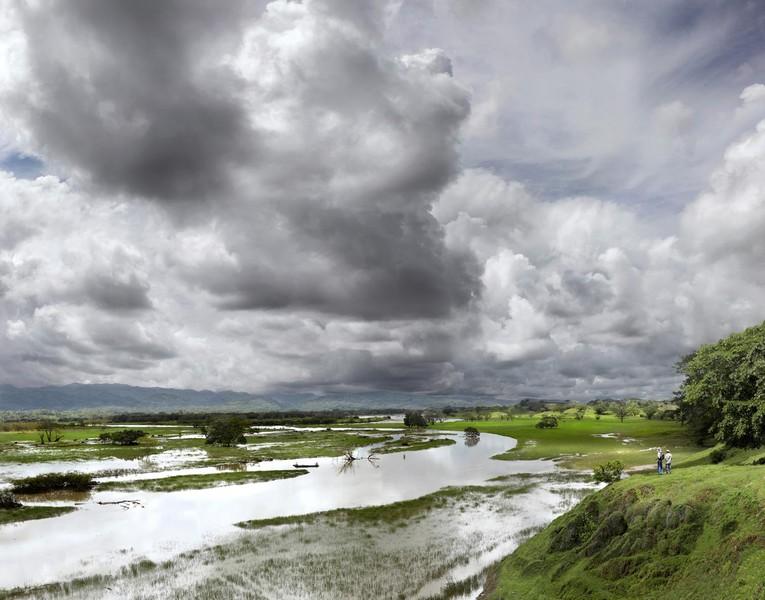 Cauca River Overflow During Rainy Season