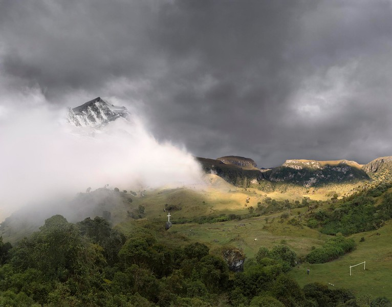 Afternoon fog over the Andes Mountain Range