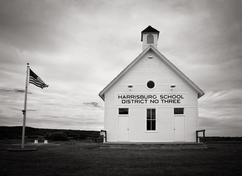Harrisburg School, Troy Township, Wisconsin