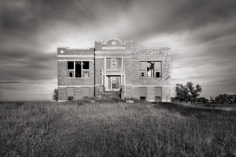 Abandoned School, Crystal Springs, North Dakota