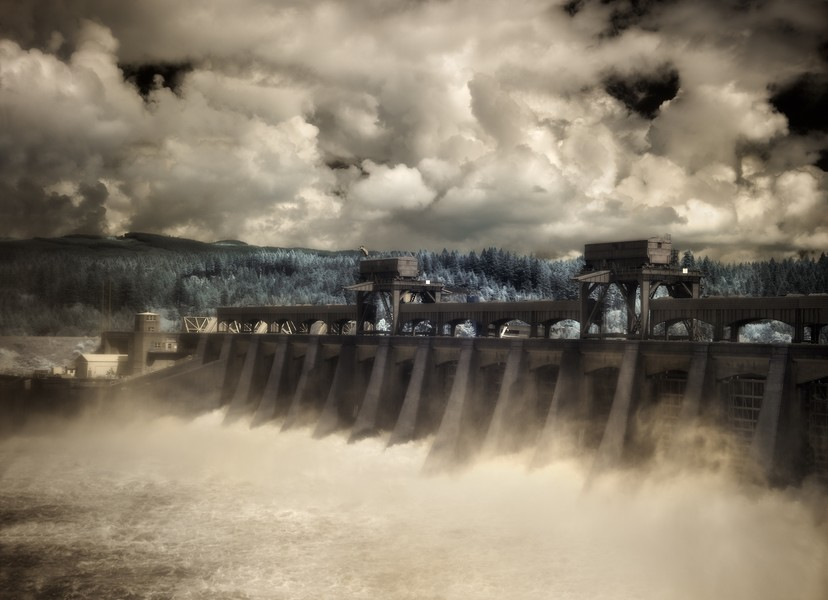 Bonneville Dam Spillway, Columbia River, Oregon