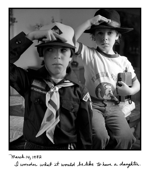 1982 Jason and David Saluting