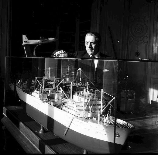 Aristotle Onassis. Monte Carlo 1955
