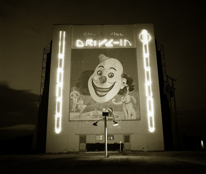 Chalk Hill Drive-in movie theater, Dallas, Texas,