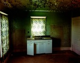 Abandoned kitchen in Carlyle, Montana, 2000
