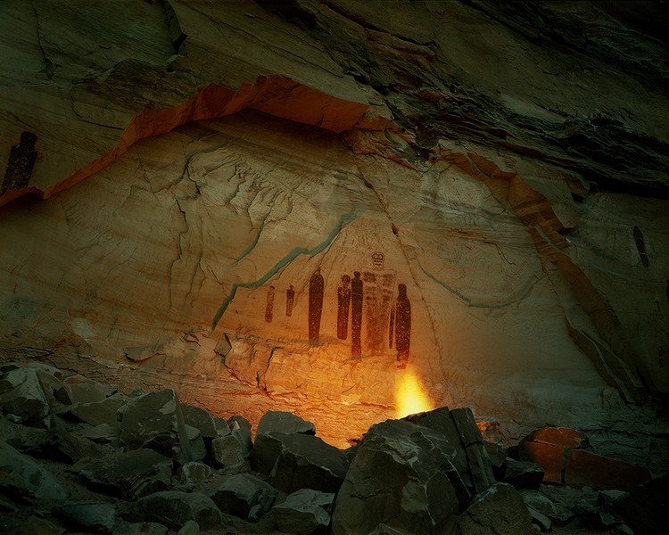 Pictographs in Horseshoe Canyon, Utah, 1983
