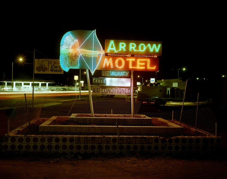 Arrow Motel sign, Espanola, New Mexico, 1982