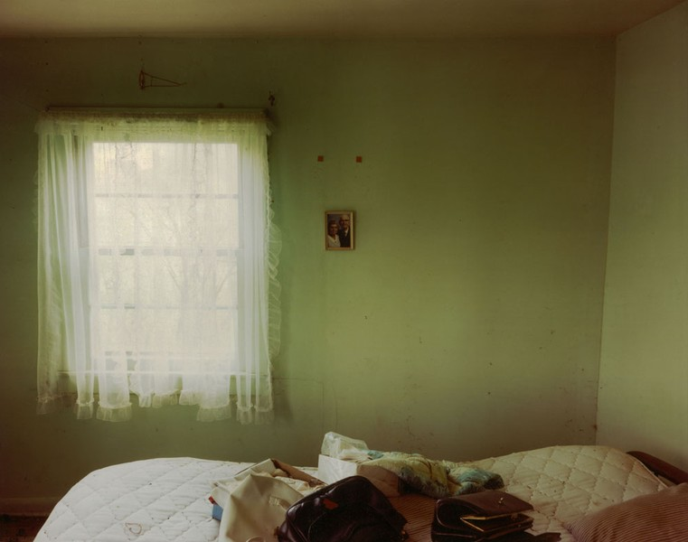 Bedroom in a house near Scranton, North Dakota, June 9, 2000