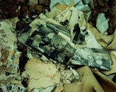 The floor of a house in Corona, eastern New Mexico, October 18, 1993