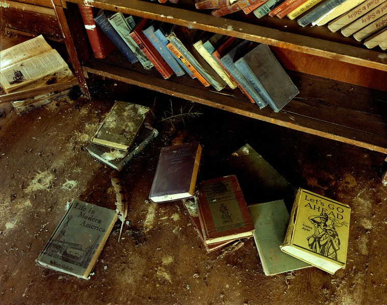 The floor of a school in McAlister, eastern New Mexico, January 6, 1994