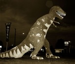 Dinosaur, Highway 40, Vernal, Utah, 1974?