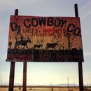 Plywood sign near Presidio, TX, March 2, 2006