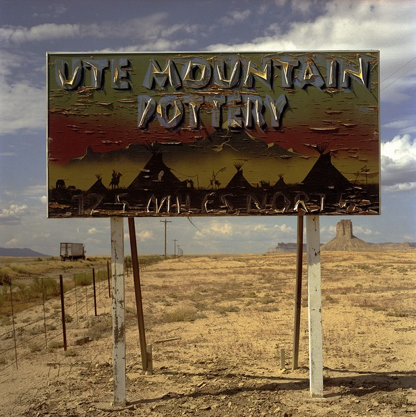 Plywood sign south of Cortez, CO, July 21, 2007