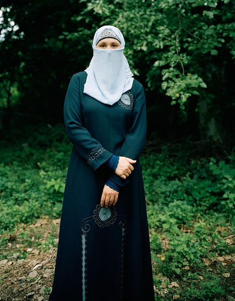 Kathryn on her first day as a niqabi, 2012