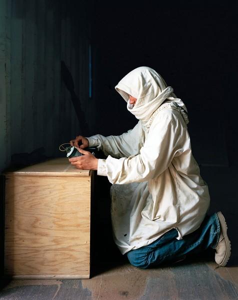 Army SPC Gary McCorkle as a terrorist, 2009