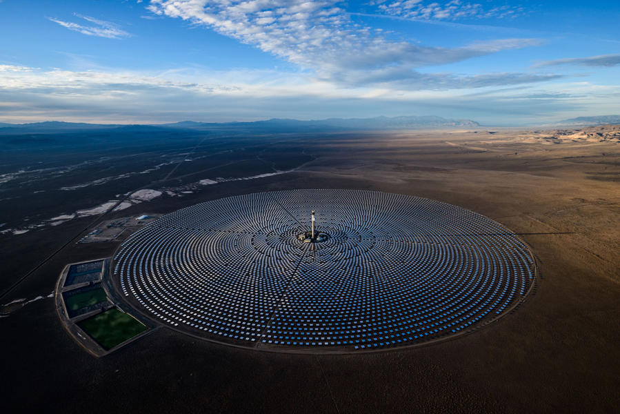 Crescent Dunes Solar Energy Plant, Nevada