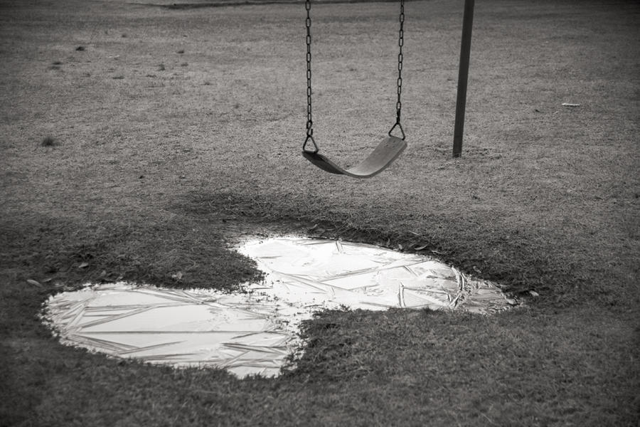 Playground Swing with Ice