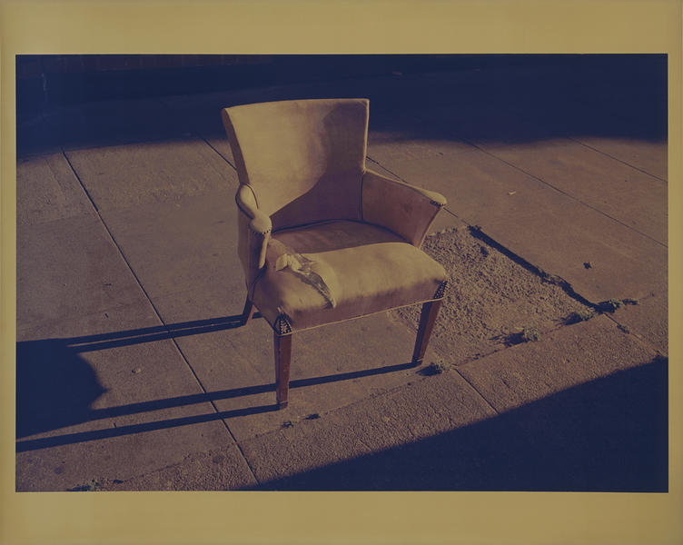 Untitled (Yellow Chair with Rivets)