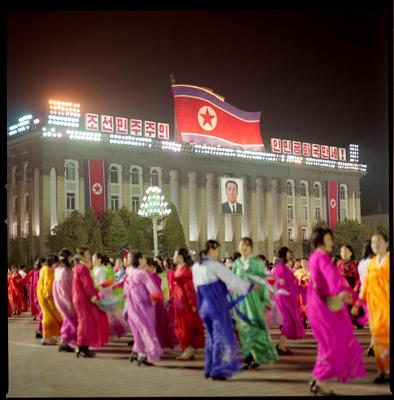 Kim Il Sung's Birthday, Kim Il Sung Square, North Korea