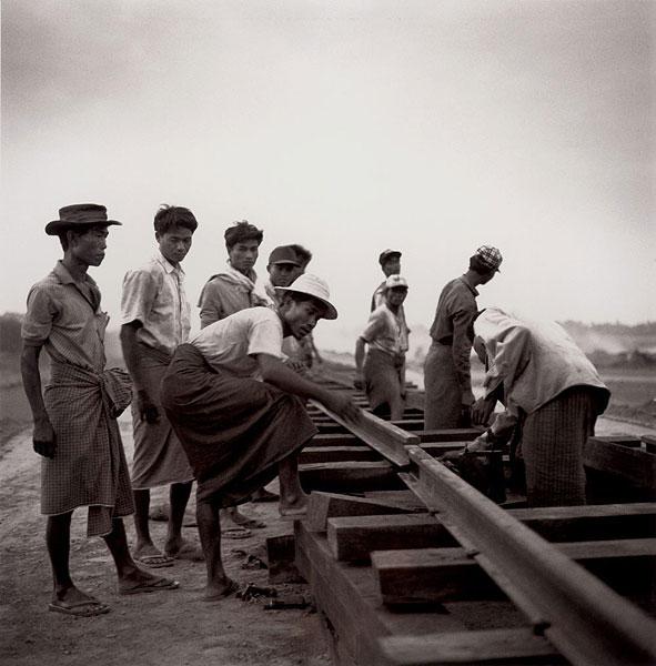 Railroad Workers, Mandalay, Burma