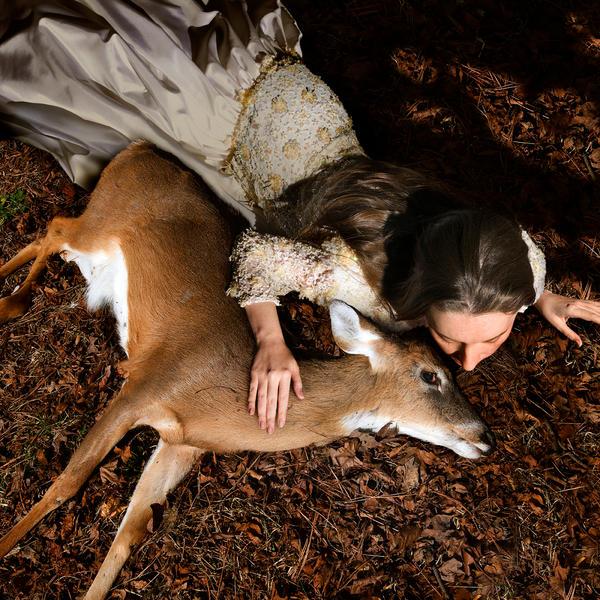 Ashly with Deer