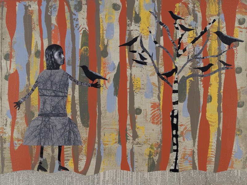 Girl with Crows