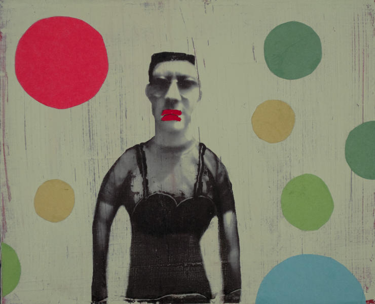 Man with Red Lips(and Spots)
