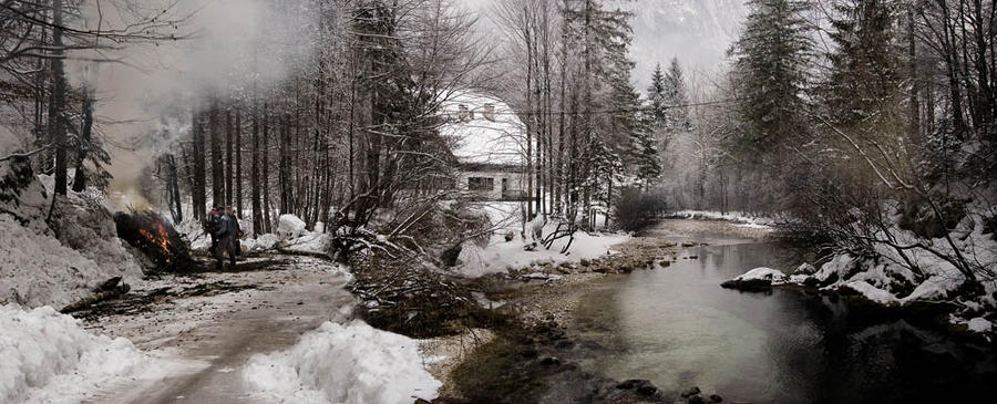 Lake Bohinj, Slovenia, Winter 2006
