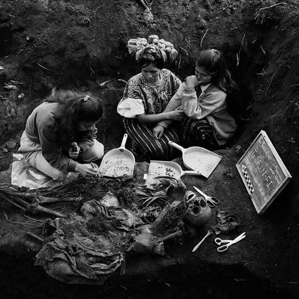 The exhumation, Quiche, Guatemala, 2000