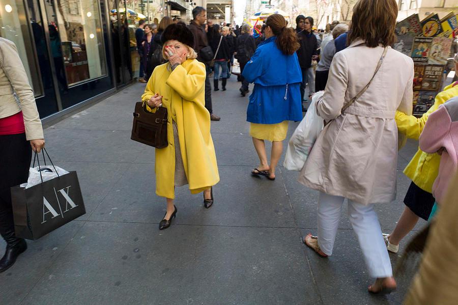 Yellow Coat, Fifth Avenue, New York 2012